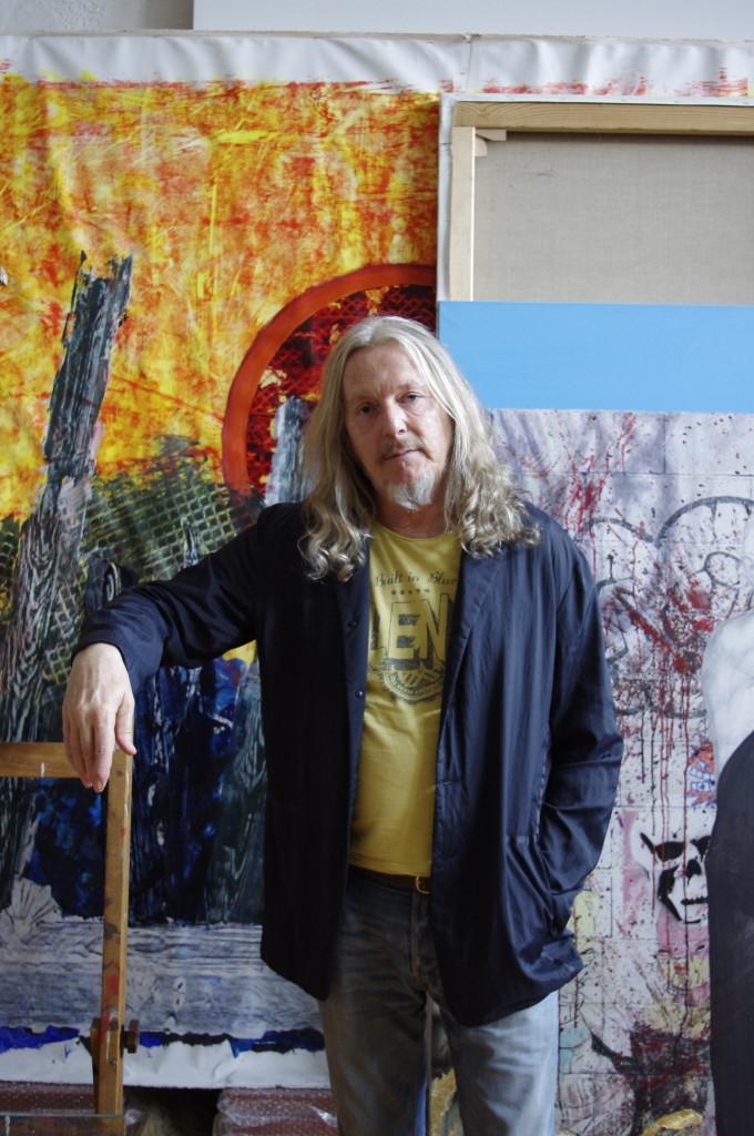 Beltracchi in seinem Atelier in der Nähe von Köln