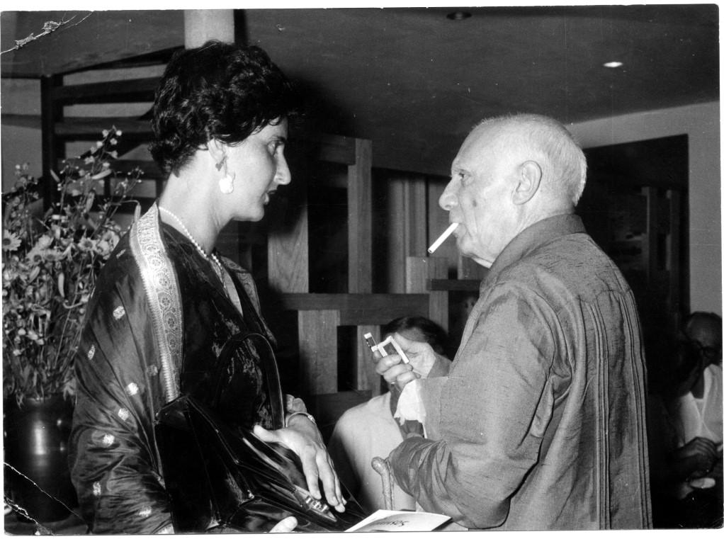 Soshana und ihr Freund Pablo Picasso.