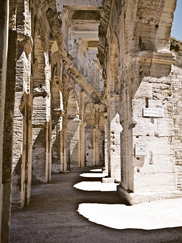 Das Kolosseum von Arles.