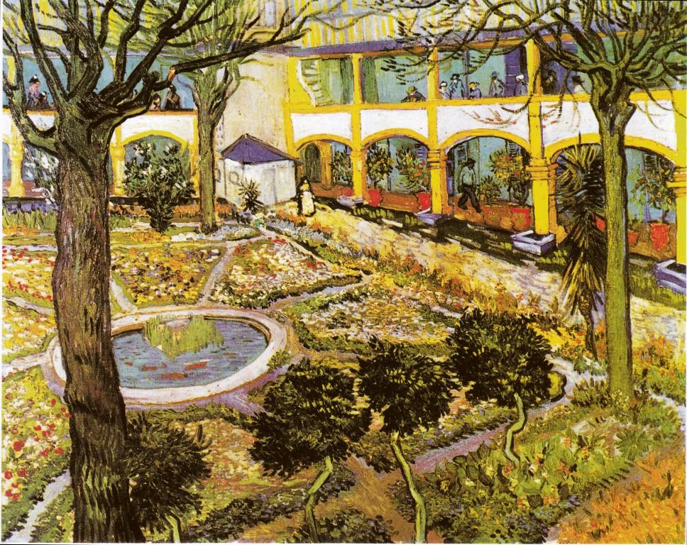 Van Gogh - Garten des Hospitals in Arles