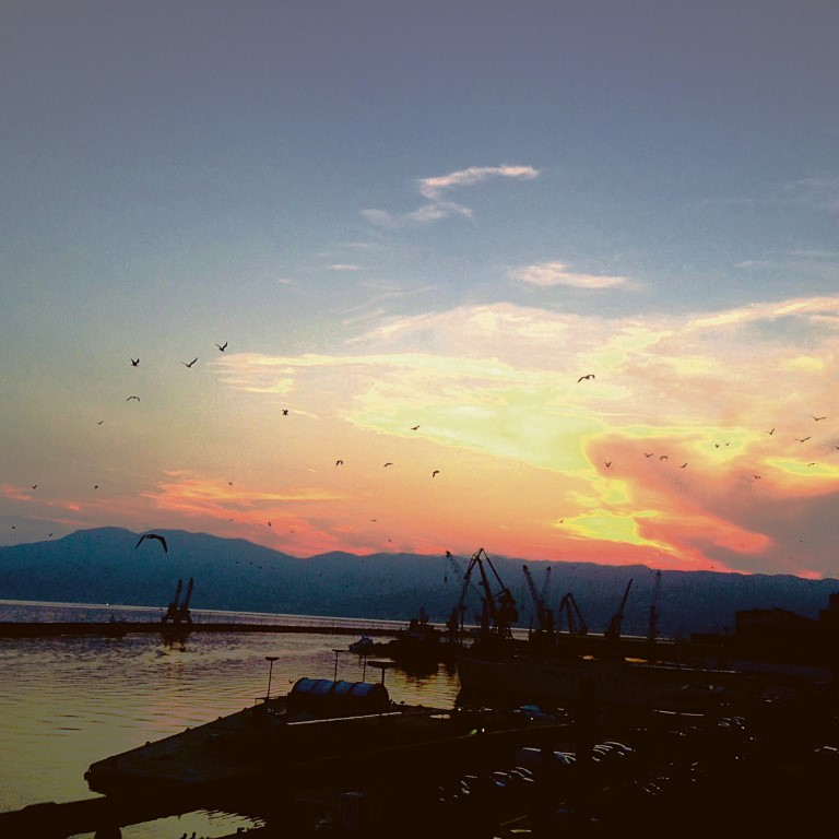 Sonnenuntergang über Rijeka