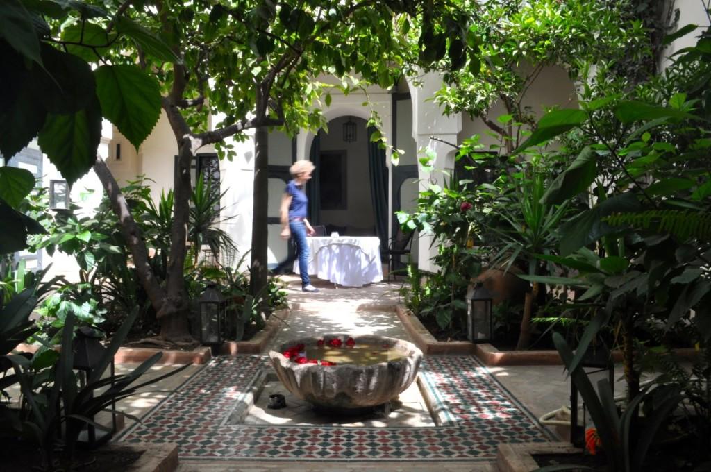 Die Hausherrin im Riad El Cadi.