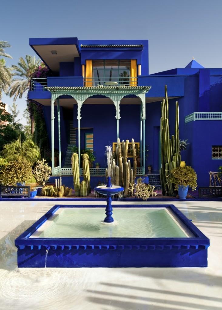 Yves Saint Laurents Haus im Jardin Majorelle.