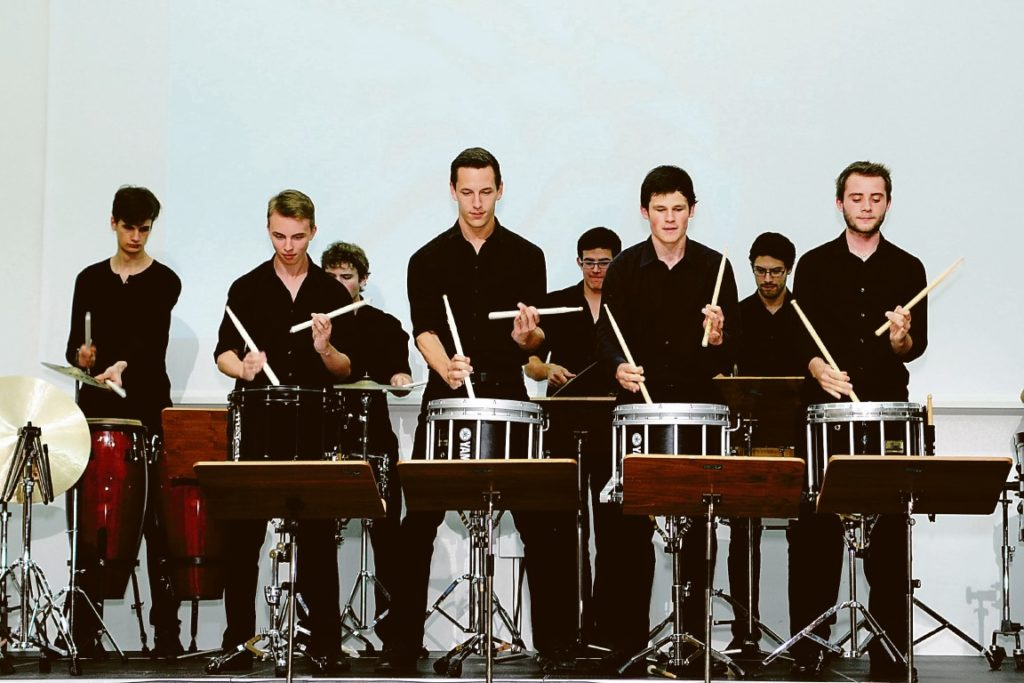 Academy percussion meets identity