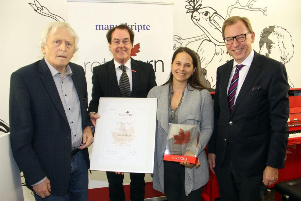 Anna Baar erhielt den 2. Preis