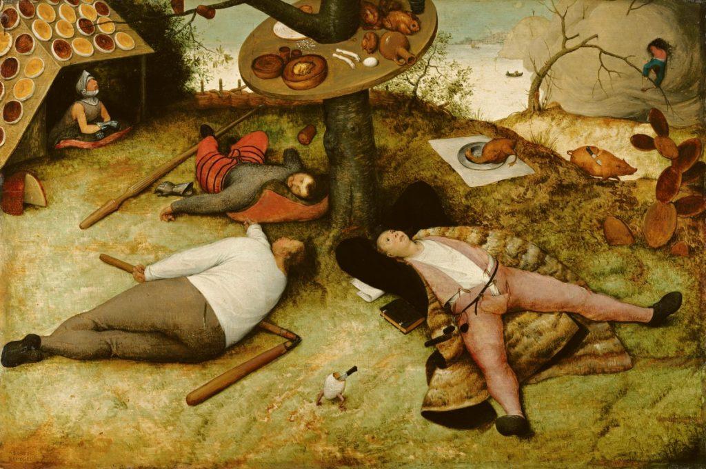"""""""Das Schlaraffenland"""" von Pieter Bruegel d.Ä. in der alten Pinakothek, München"""