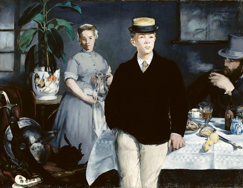 """""""Frühstück im Atelier"""" von Edouard Manet in der Neuen Pinakothek."""