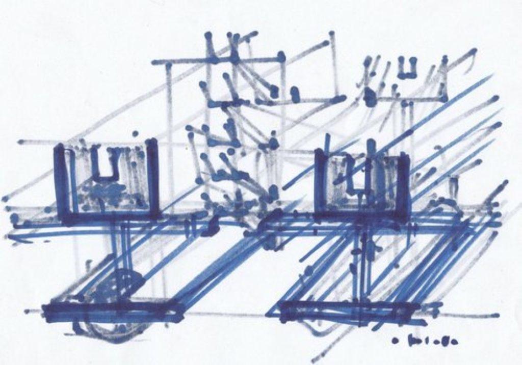 E.d Gfrerer, Skizze/Schnitt, 2016 Zeichnung